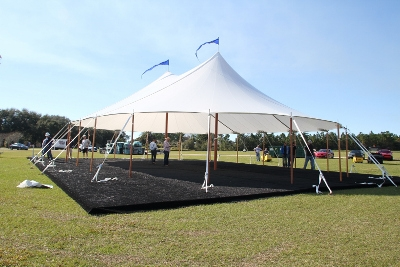 44' x 43' Sailcloth Pole Tent