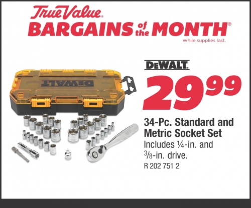 Sale $29.99 DeWalt 34-Pc. Socket Set