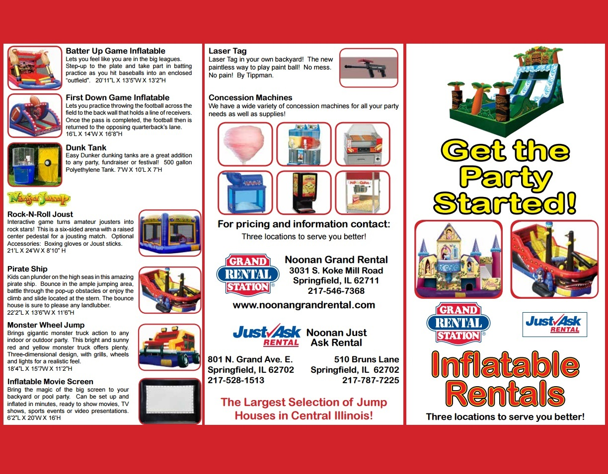 Photo of Bounce House Brochure
