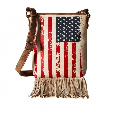 Ladies Patriotic Crossbody Messenger Bag