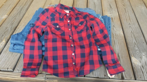 Little Girls Levi's Plaid Flannel