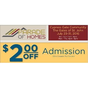 Save $2 On Parade of Homes Admission