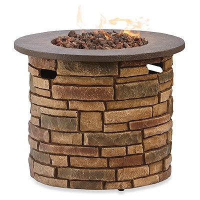 Four Seasons Courtyard Rockford Round Fire Table, Envirostone, 30 x 12-In.