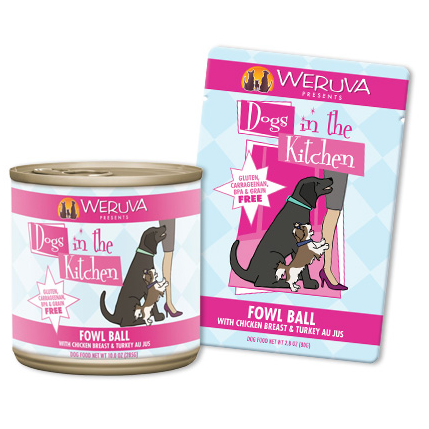 Weruva Dogs in the Kitchen Fowl Ball 2.8 Ounce