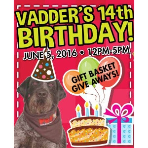 Vadder's 14th Birthday Party and Sale!