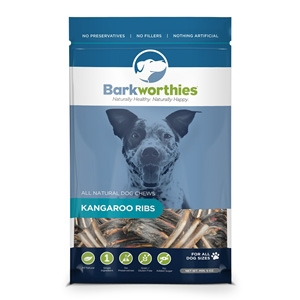 Kangaroo Ribs Dog Treats, 5 oz.