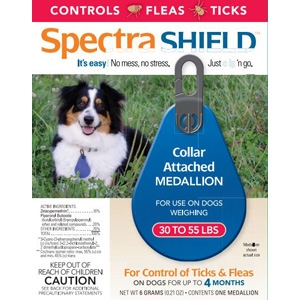 Spectra Shield Flea & Tick Collar, for Dogs 30-55 lbs.